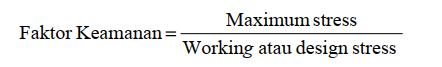 Tegangan Kerja dan Faktor Keamanan (N)