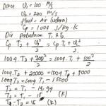 Contoh Soal 1 Mekanika Fluida terkait aliran mampu mampat (compressible)